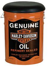Harley-Davidson Industrial Stool Vintage Look Seat Oil barrel printed HDL-12131