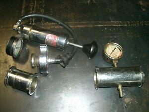 Vintage Radiator & Cap Pressure Checker / Tester lot, Service Station Tools