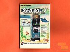 """Midway Sea Wolf flyer 2x3"""" fridge/locker magnet arcade 70's video game submarine"""