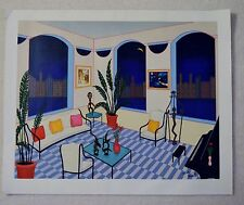 FANCH LEDAN INTERIOR WITH PRIMITIVE ART SERIGRAPH CANVAS SIGNED/# W/COA #229/250