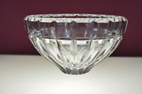 Vintage Lead Crystal Brilliant Ribbed Bowl