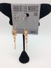 $30  ROBERT LEE MORRIS ROSE GOLD TONE   DROP  EARRINGS ML12