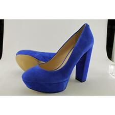 "Very High Heel (greater than 4.5"") Suede Block Heels for Women"