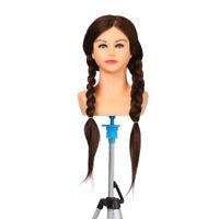 100% Human Hair Mannequin Head For Braiding Manikin Head Cosmetology Dummie
