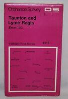 Ordnance Survey 1:50,000 Map - Taunton & Lyme Regis - Sheet 193 - 1974