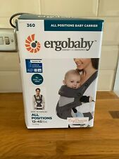 **NEW* RRP £120 - ERGOBABY 360 ALL IN ONE POSITIONS BABY CARRIER 12-45lbs Grey