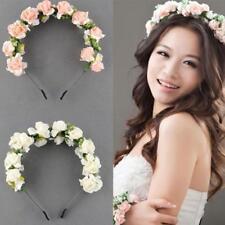 Flower Crown Floral Headband Headpiece Wedding Bridal Festival Hair Accessories