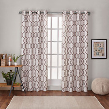 "Exclusive Home Grommet Curtain Panels  Kochi Set Of 2 -52""x 84"" Natural"