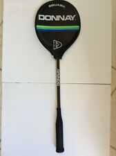 Vintage Donnay Squash Racquet - Graphite/Wood with Cover - Minimal Use