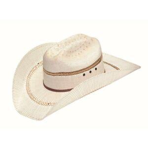 Ariat Men's Western Bangora Straw White Hat A73126