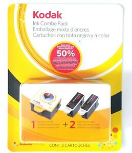 Kodak Ink Combo Pack 10 Series 1 Color Ink Cartridge 2 Black Cartridges Expired