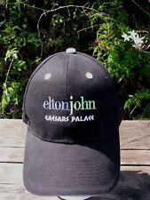 Elton John Caesars Palace Hat Cap Las Vegas Concert Band Swag Black Ball Cap