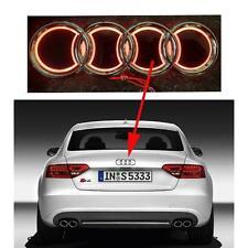 Rojo 5 D Emblema Insignia traseras LED 18.5cm X 8.5cm con logotipo de luz anillos de Audi Ajuste Universal