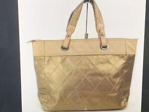 Chanel Tote Bag Gold Nylon
