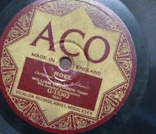78 rpm WILLIAM DAVIDSON teno , NOEL christmas song / the holy city ACO g 15302