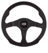GENUINE Momo Dark Fighter Steering Wheel 350mm Black Leather