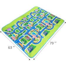Kids Car Road Play Mat Rug Rooms Activity Floor Carpet Car Road Map Games Area