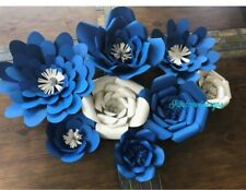 8 Paper Flower Floral Backdrop Wall Nursery Wedding Birthday Party Home Decor