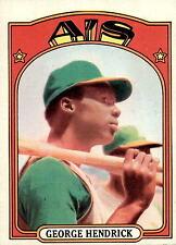 1972 TOPPS #406 GEORGE HENDRICK RC