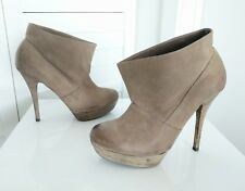 LUXURY REBEL Leather Ankle Booties Size 39 Or US 9
