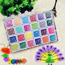 24 Colors Multi-Color Ink Pads Kids Fingerprint Picture Painting Stamp Pigment