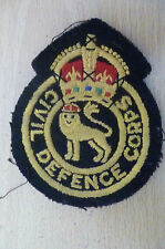 Patches- WWII CIVIL DEFENCE CORPS PATCH (Org* apx. 8.5x6.8 cm)