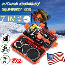 Multifunction 7 in 1 SOS Emergency Tactical Survival Equipment Kit Outdoor Tool