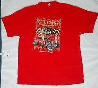 Route-66 Delta pro weight t-shirt XL Classic American Poster Graphic Print/Red