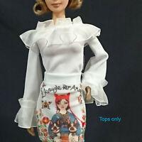 "Handmade~Doll tops 12"" Doll~ for Barbie,Fashion royalty, Silkstone #180708-4"