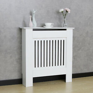Radiator Cover Grill Shelf Cabinet Modern Traditional MDF Wood Furniture White