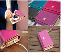 Card Wallet Envelope Leather Purse Case Cover For iPhone 4s 5 5S 5C Galaxy S 3 2