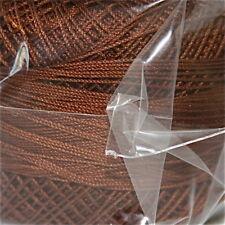 Lizbeth Cordonnet Cotton Thread - Size 80 - Color 692 Dark Mocha Brown