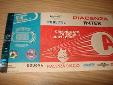 Billet Ticket Série À 2001/2002 Piacenza Inter 23/12/2001 Courbe Sud