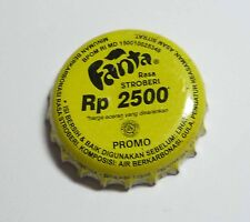 FANTA Stroberi RP 2500 Soda Promo Bottle Cap Crown INDONESIA Coke Yellow 2012