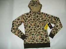 BURTON Thermex DUCK CAMO Full Zip Hoodie SWEATSHIRT Jacket Womens SMALL $85 NEW