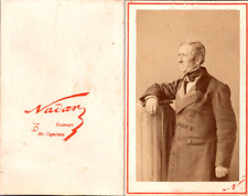 Nadar, Paris, Portrait d'homme âgé Vintage CDV albumen carte de visite CD