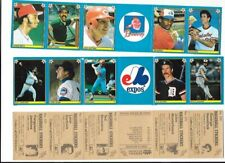 1983 FLEER BASBALL STICKERS 34 STRIPS 204 STICKERS NEW UNUSED RYAN BRETT ROSE