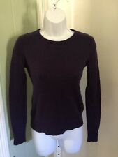 Cashmere Addiction Womens Long Sleeve Purple Crew Neck Sweater Size Small