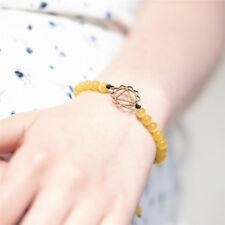 Stylish Faux Gemstones Stone Chakra Crystal Beads Bracelet Bangle Adjustable HZ