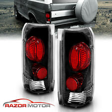 [Factory Style] 1989-1996 For Ford F150/F250/F350 Bronco Black Tail Lights Pair