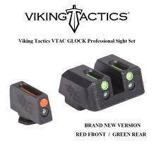 Viking Tactics VTAC Fiber Sights Set for Glock Pistols RED Front / GREEN Rear