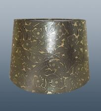 "12"" FOILE EMPIRE DRUM SHADE IN PURE GOLD COLOUR FOR TABLE LAMP OR CEILING USE"