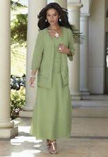 Green Goddess Beaded Jacket Dress Formal NEW size XL Midnight velvet