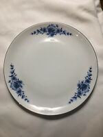 Set of 6 Eschenbach Danish Blue Roses Luncheon/Dessert  Plates  Bavaria Germany