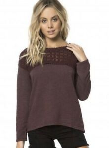 O'NEILL Junior's Partington Pullover Fleece Top, Berry/Berry