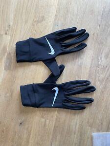 Nike Gloves Unisex Dry Lightweight Dri-Fit Running Run Black Med