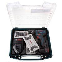Bosch GSB 10.8-2-LI Combi Drill, 2 x 2.0Ah Batts, Charger, in i-boxx + Extra's!