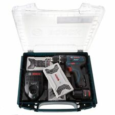 Bosch GSB 10.8-2-LI Combi Drill, 2 x 2.0Ah Batts, Charger, in i-boxx + Extra's!