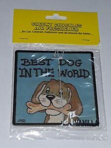 Car air freshener best dog in the world mans friend funny Novelty