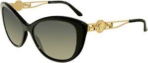 Versace Sunglasses VE4295 GB1/T3 57mm Black-Gold / Polarized Grey Gradient Lens